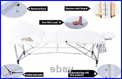 Vesgantti Portable Massage Bed Table 3-Section Aluminium Foldable Beauty Couch