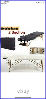 White Adjustable Portable Beauty Massage Bed Couch, Beauty Kit & Stool