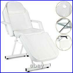 White Massage Table Beauty Salon Treatment Tattoo Couch Bed Chair with Stool