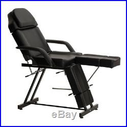 Wido BLACK PEDICURE SALON BEAUTY MASSAGE CHAIR TABLE FACIAL BED MANUAL COUCH