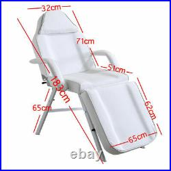 With Stool Beauty Salon Bed Tattoo Spa Treatment Massage Table Couch Chair White