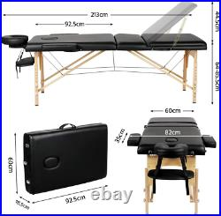 Yaheetech Massage Table Portable Professional Beauty Spa Salon Couch Bed with 3